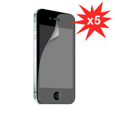 5 pack Screen Guard Front Anti-UV LCD Screen Protector for iPhone 4 4S