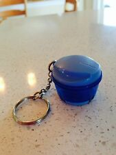Tupperware Key Chain Bold n Blue Happy Chopper Chop and Press Keychain Rare New