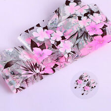 Starry Sky Foils Nail Art Transfer Sticker Decor Pink Floral Manicure Decor DIY