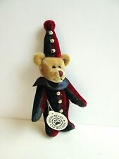 "Tiny Boyds Bear ""Tumble F. Wuzzie"" Boyds Bears Jointed Bear in Clown Suit - Euc"