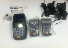 Veriphone Omni 3750 Credit Card Terminal Reader Machine Two Pin Pads Included