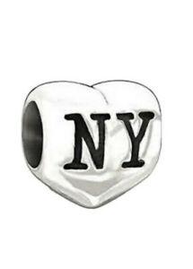 Genuine CHAMILIA I Love Heart NEW YORK Charm ~ NEW in Pouch ~ 2010-3054