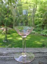 Vintage Pink Depression Glass Optic Pattern Paneled Wine Goblet