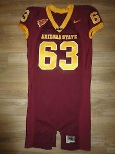 Paul Fanaika #63 Arizona State Sun Devils ASU Football Game Used Worn Jersey 46