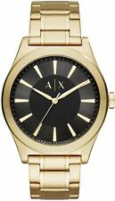 Men's Armani Exchange Nico Gold Tone Steel Link Watch AX2328