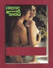 CALENDARIETTO 1981 EROTIC SHOW - NUDE SEXY RISQUE OSÉ pocket calendar