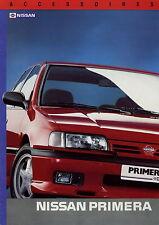 Prospectus NL Nissan primera accessoires 1991 autoprospekt auto voitures accessoires