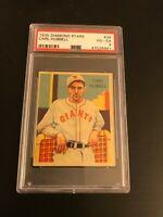 1935 Diamond Stars Carl Hubbell #39 PSA VG-EX 4 HOF Giants
