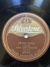 Silvertone 78 RPM 2312 Savoy Dance Orchestra & The Carolinians with Billy Jones
