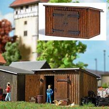 Busch 1594 -H0- Holzschuppen mit Schrägdach - Laser-Cut Bausatz  neu OVP
