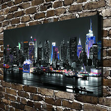 Hong Kong's night scene Painting HD Print on Canvas Home Decor Wall Art Pictures