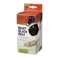 Zilla Reptile Terrarium Heat Lamps Incandescent Bulb Night Black 75W