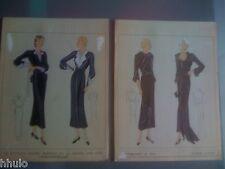 Mode Fashion Original paint peinture 1930 robe dress Femme Women Vermont & Cie 1