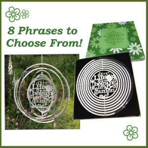 Spinning  Garden  hanging Decoration  metal silver colour