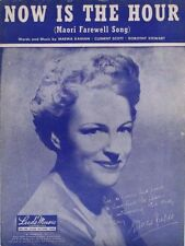 Now is The Hour, Gracie Fields photo, 1946, vintage sheet music