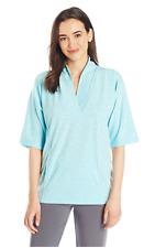 Nautica Pajama Top Lounge Shawl-Collar Robins Egg Blue Women's Size S NWT $58