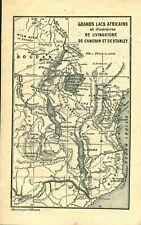 Gravure ancienne voyages d'exploration David Livingstone au Zambèze 1882