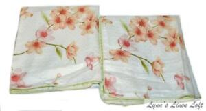 2 CHARISMA Cherry Blossom KING SHAMS NEW COTTON SATEEN BEAUTIFUL RARE