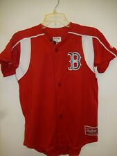 0219 Boys Youth BOSTON RED SOX Full Buttondown Baseball JERSEY New RED