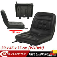 Universal Tractor Seat Replacement Dumper Mower Part Accessories Chair Black