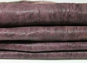 PLUM RAISIN textured antiqued vegetable tan Leather 8 skins 35sqf 1.1mm #A5169