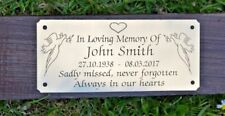 """SOLID BRASS MEMORIAL BENCH PLAQUE GRAVE MARKER SIGN 5""""X2"""" PERSONALISED ENGRAVED"""