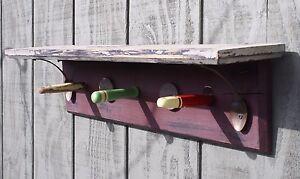 "Wall Shelf Peg Rack 24"" shabby country rustic decor redneck chic"