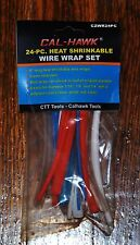 "24 Pc 6"" Color Heat Shrink Electrical Wire Wrap Tubes Tubing Sleeves Six Inch"