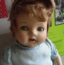 """BIG Vintage 1930s Mohair Wig  Composition Girl Character  Doll 21"""" Tall"""