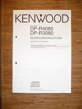 MANUAL DE INSTRUCCIONES / USO para Kenwood dp-r4080/dp-r3080, original