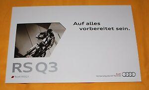 Audi RS Q3 2013 Prospekt Brochure Depliant Catalogue Prospetto Catalog Quattro