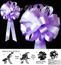 "10 Lavender Purple White Wedding 8"" Pew Bow Bridal Cake Party Decoration Pb018"