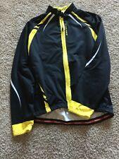 Men's Wosawe Long Sleeve Cycling Jersey Size L Warm Lining Black/yellow