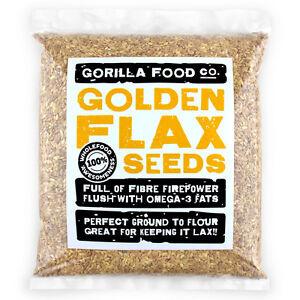 Gorilla Food Co. Golden Flax Seeds (Linseeds) 200g-6.4kg (Great value £ per 1kg)