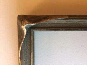"""BATWING PIE CRUST picture frame VINTAGE Art Nouveau c1920 w/o glass 7x9"""""""