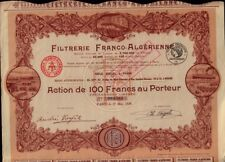 AFRICA ALGERIA Filtrerie Franco-Algerienne dd 1928