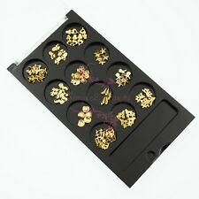 1 Set Ocean Series Shell Starfish Turtle Mermaid Gold Alloy Charms Nail Art Deco