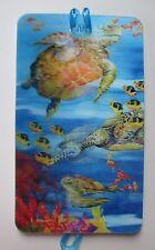 i Sea Turtle fish underwater ocean LENTICULAR 3d LUGGAGE TAG id suitcase bag