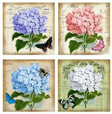 Stunning Hydrangea - Glossy Finish Card Toppers - Crafts Embellishment