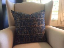 "Brunschwig and Fils ""Equus"" 22"" pillow covers in blue"