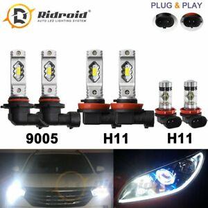 6x 9005 H11 H11 LED Headlight Combo Kit for Toyota 4Runner 10-13 Camry 2007-2014