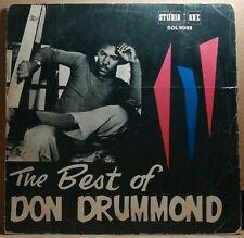 The Best Of Don Drummond |  Studio One Jamaica Early Pressing Ska Skatalites LP