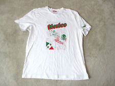 Puma Mexico Shirt Size Adult Extra Large White Red Cotton Casual Mens