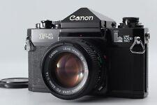 RARE!! CANON F-1 LAKE PLACID 1980 BLACK BODY w/NewFD 50mm F/1.4【Mint】Japan #0291