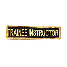Trainee Instructor Patch c082Tin
