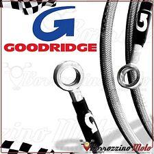 GOODRIDGE KIT FLEXIBLES DE FREIN ACIER AVANT ARRIÈRE YAMAHA T-MAX 500 ie 2006