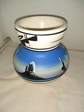 Signed Dine Hand Painted Navajo Vase