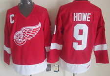 Red Wings Red Gordie Howe Jersey M, L, XL, 2XL, 3XL