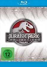 Jurassic Park Collection - 1+2+3+4 (Jurassic World) # 4-BLU-RAY-BOX-NEU