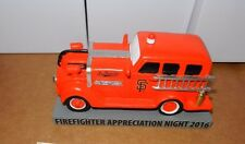 SF Giants Firefighter Night SGA FIre Truck Collectible not Bobblehead 7/25 2016